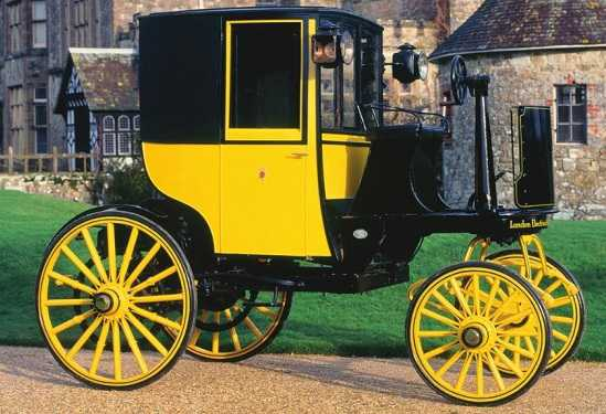 A Bersey electric cab from 1897