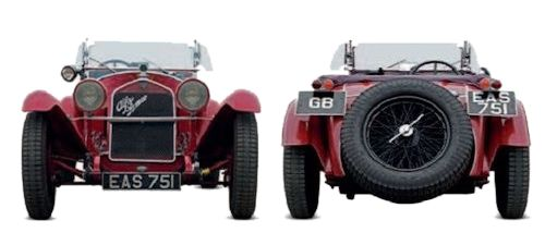 Alfa Romeo front and rear view