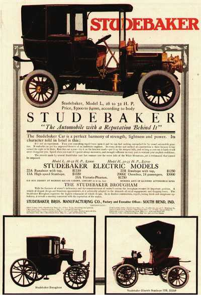 Another advertisement for the Studebaker