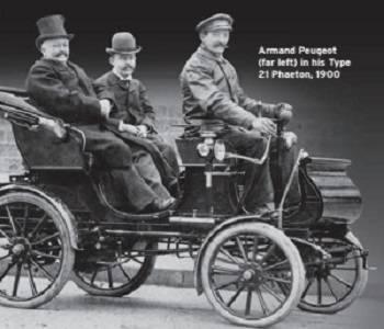Armand Peugeot in his Type-21 Phaeton 1900