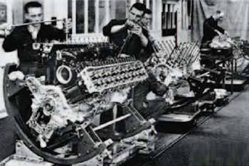 Assembling Merlin engines