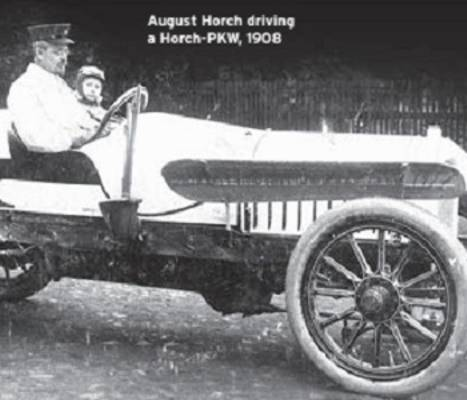 August Horch a driving Horch PKW 1908