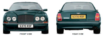 Bentley Continental R 1991-2003 front and rear view