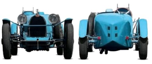 Bugatti Type 35B front and rear view