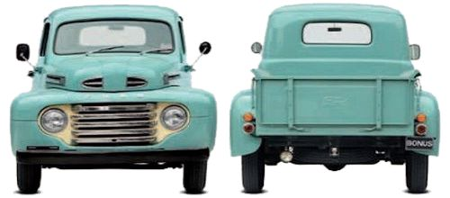 Ford F1 front and rear vew