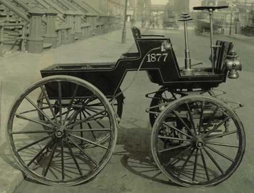 George Selden's 'explosive' motor wagon