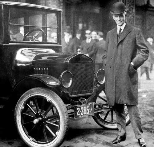 Henry Ford with the car