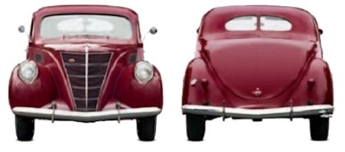 Lincoln Zephyr front and rear view