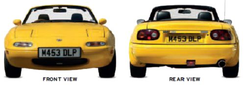 Mazda MX-5 1989-97 front and rear view