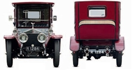 Rolls Royce Silver Ghost front and rear view