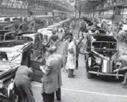 The Austin 12 in Longbridge factory 1947