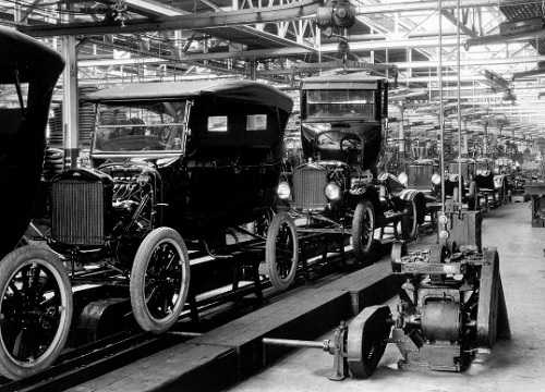 The Model T Ford production line