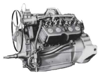 The first mass produced V8 engine