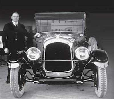 Walter P. Chrysler in 1924 with the Chrysler Six