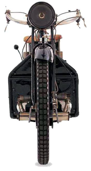 ABC motorcycles front view