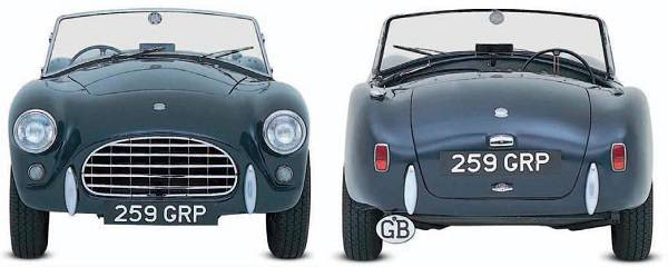 AC Ace-Bristol front and rear view