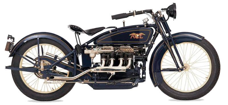 ACE motorcycles side view