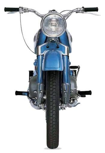 ADLER MB200 motorcycles front view