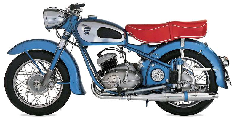 ADLER MB200 motorcycles side view