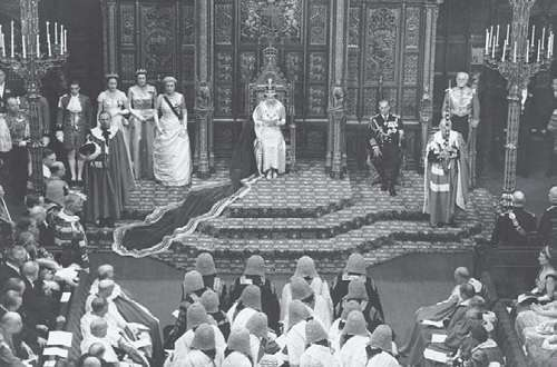 Elizabeth II and coronation guests, June 2, 1953