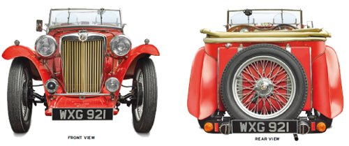 MG TC front and rear wiev