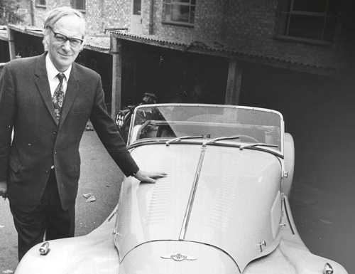Peter Morgan with one of his family company's distinctive cars