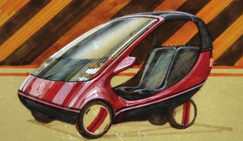 Tony Wood Rogers sketch of the still-born Sinclair C10