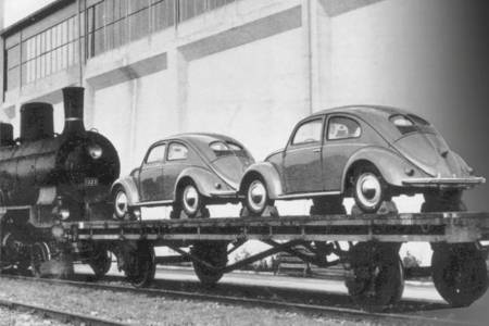 Type-1 Beetles leaving the factory, ready for export to Switzerland